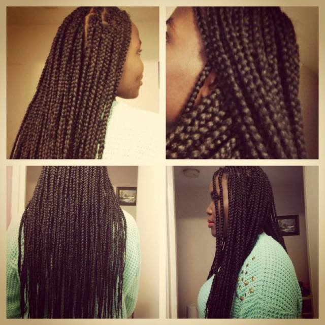 Chunky poetic justice braids