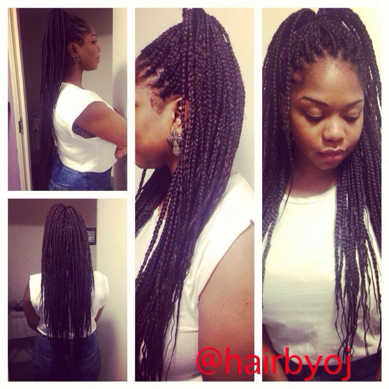 Bra strap length box braids