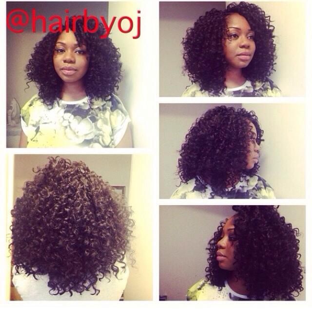 Curly Shoulder Length Crochet Braids Hairbyoj