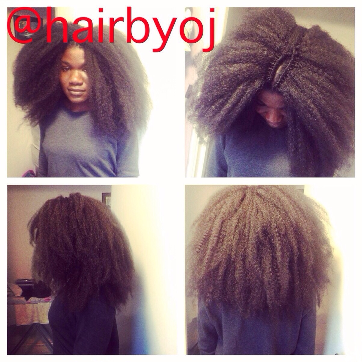 Shoulder length crochet braids with Marley hair and versatile side and ...