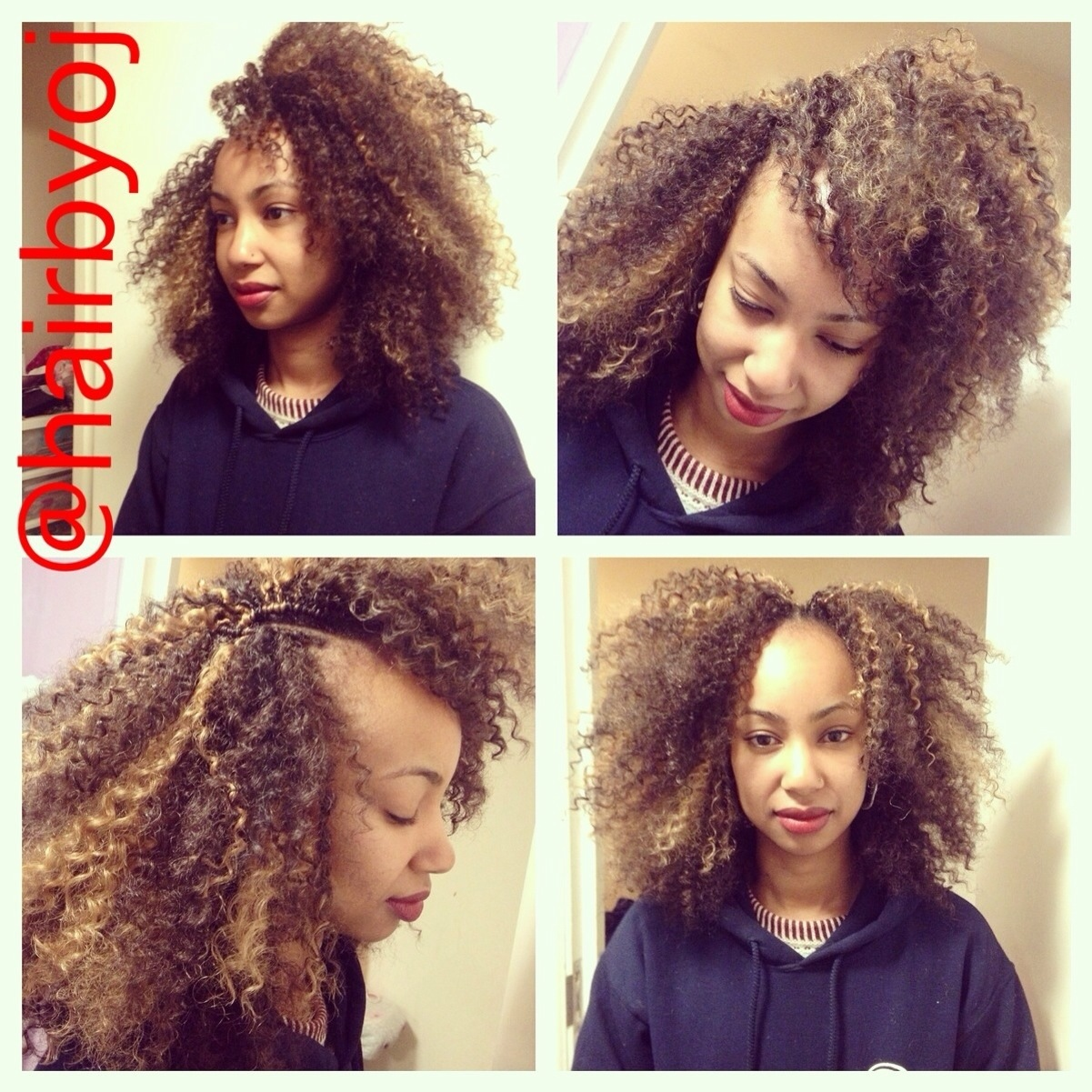 Shoulder Length Tightly Curled Crochet Braids With Versatile Side
