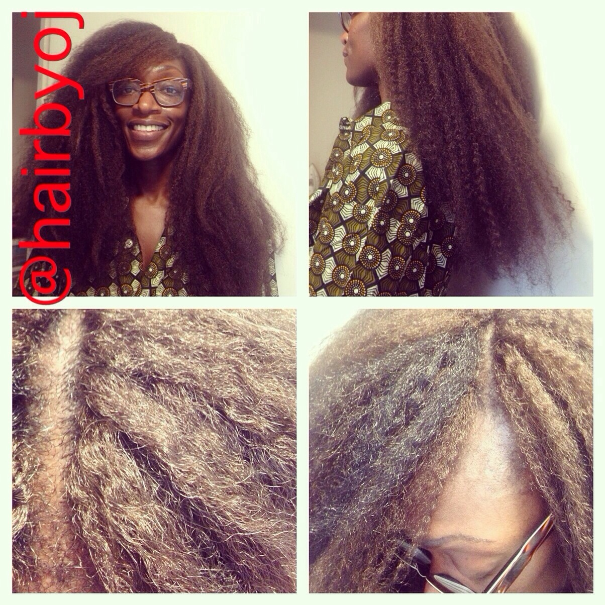 Chest length crochet braids with Marley hair and knotless side parting ...