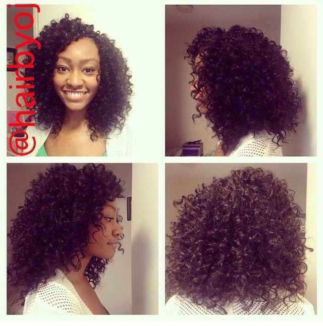 Crochet Hair With Curls : Shoulder length curly crochet braids