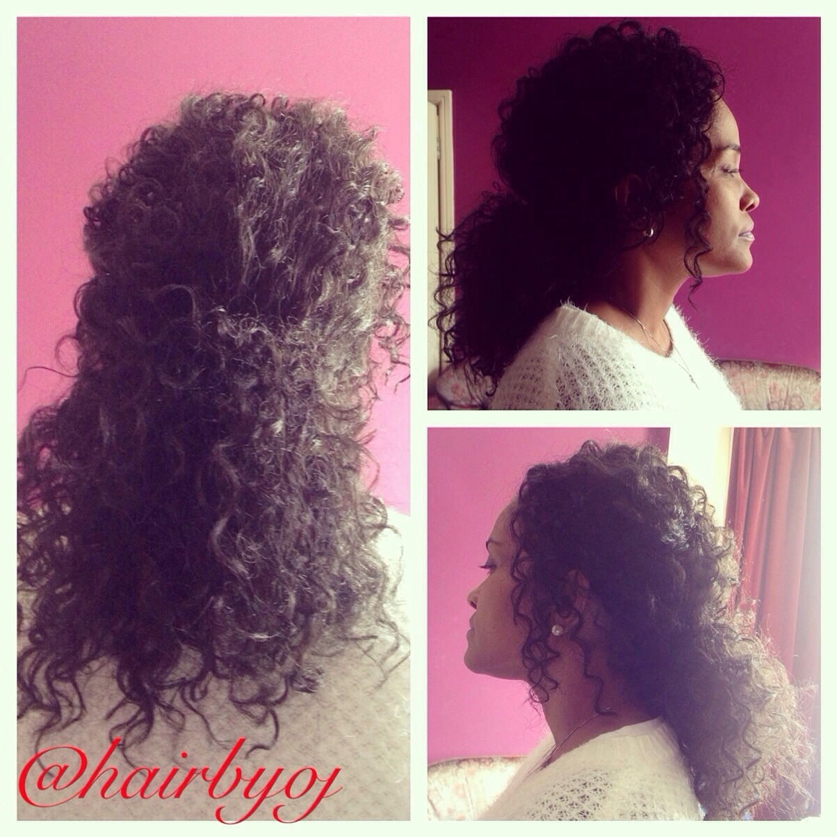 Shoulder length ringlet curl crochet braids in a ponytail ? hairbyoj