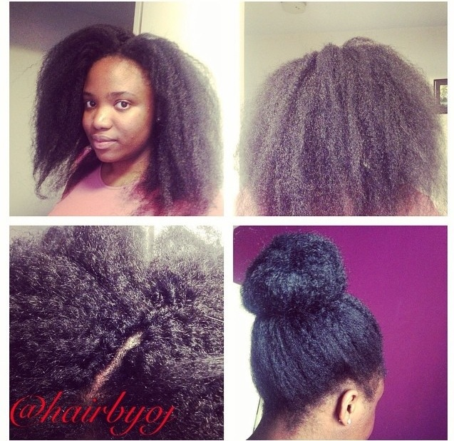 Shoulder Length Crochet Braids With Perimeter Leave Out And Side