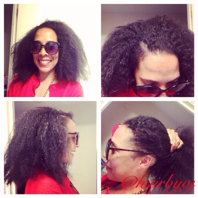 ... crochet braids with Marley hair/ perimeter and side parting leave out
