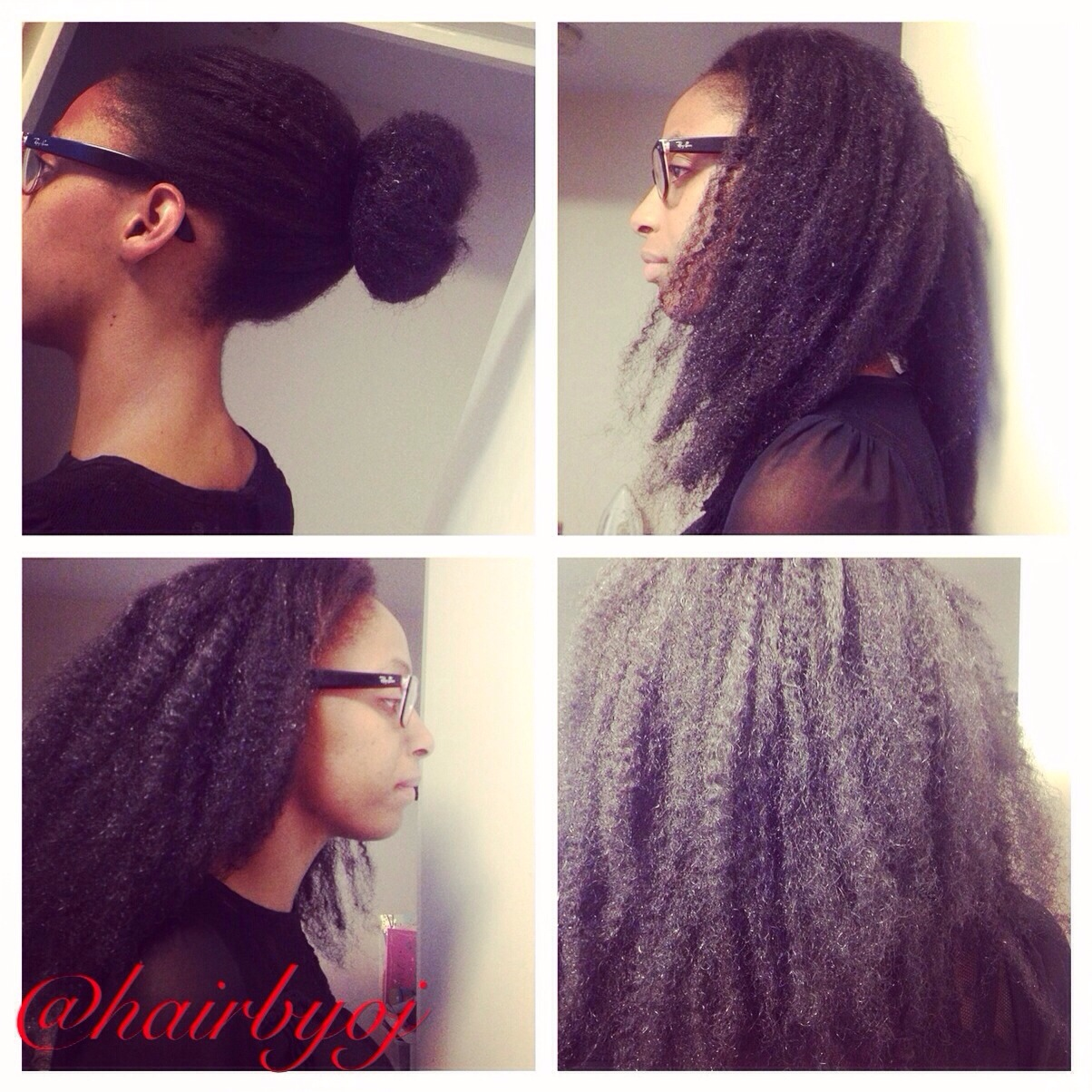 crochet braids with Marley hair and perimeter and middle parting leave ...