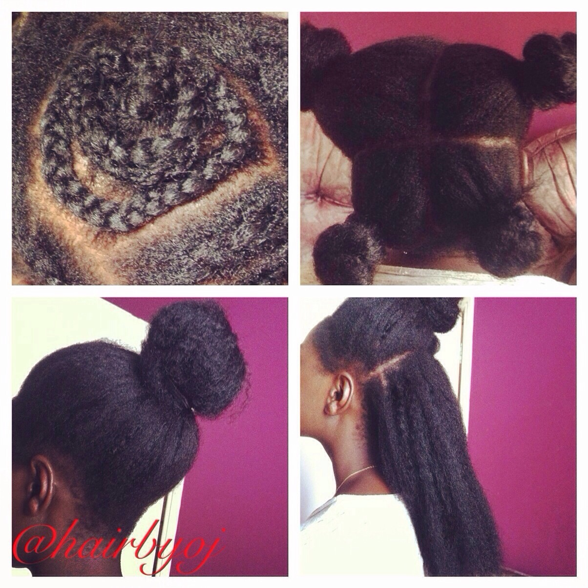 ... length 4 way parting vixen crochet braids with Marley hair ? hairbyoj