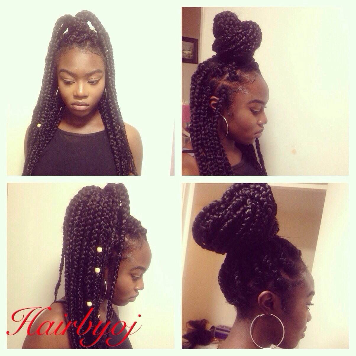 Crochet Box Braids Bun : Box braids styling options ? hairbyoj