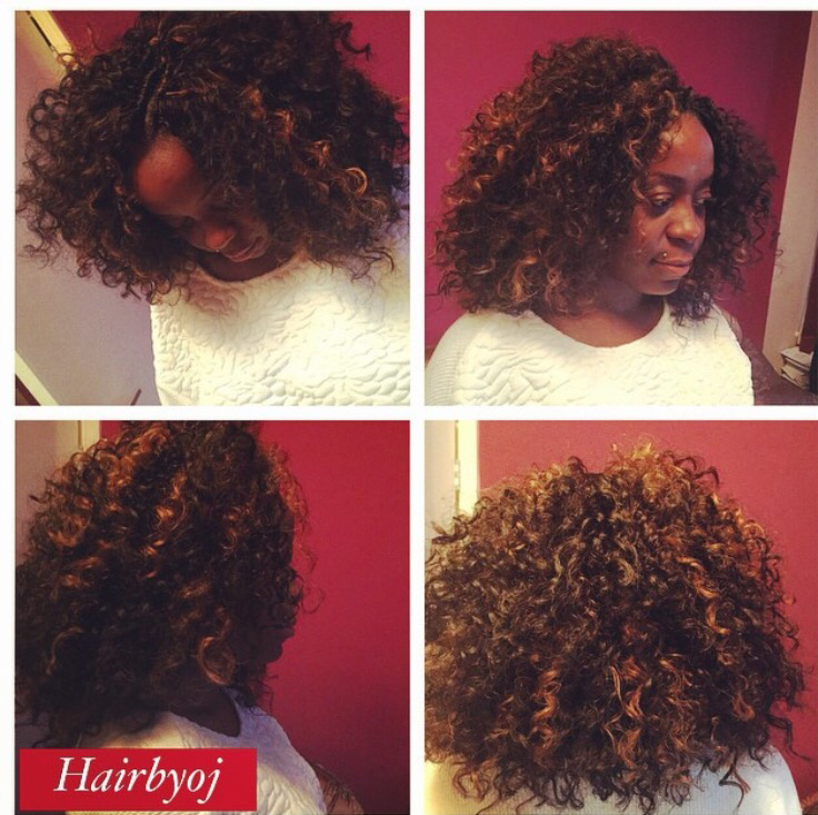 - Spanish curl, but with a twist. Highlights were added and the hair ...
