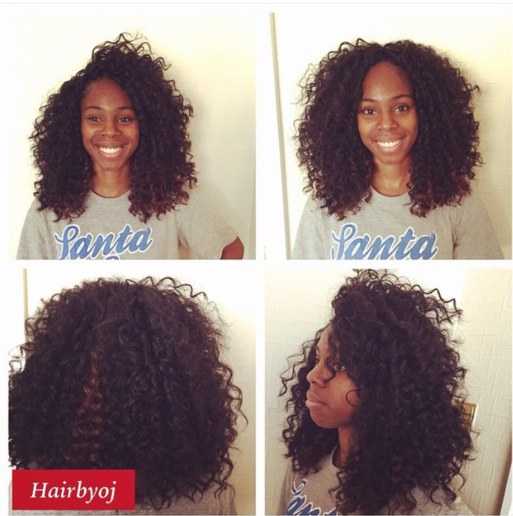 Shoulder Length Curly Crochet Braids With Versatile Side