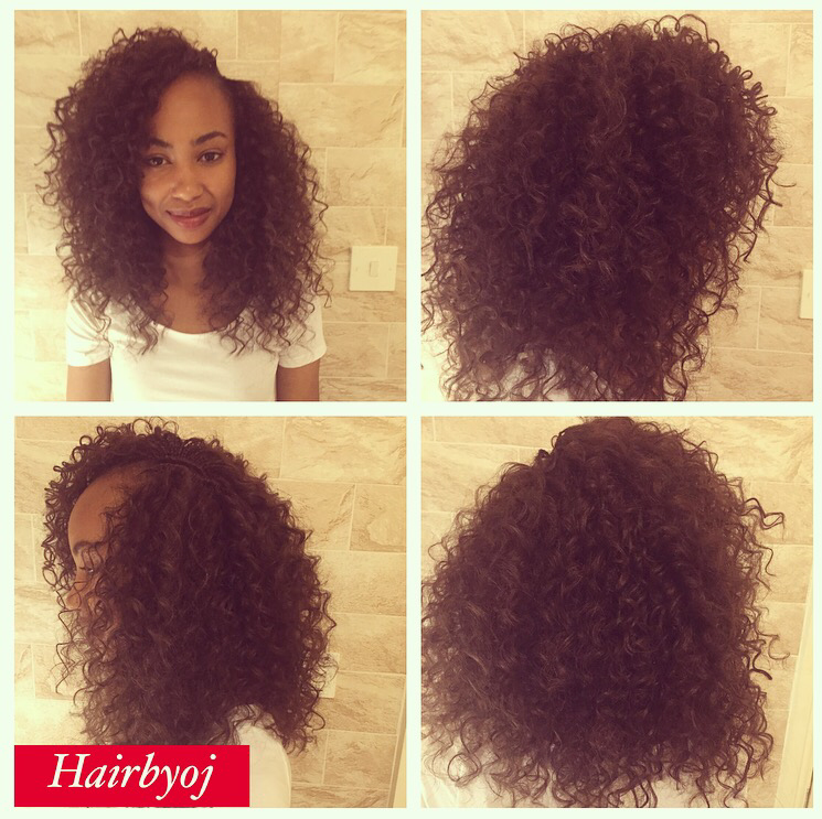 Armpit length curly crochet braids with side parting ? hairbyoj