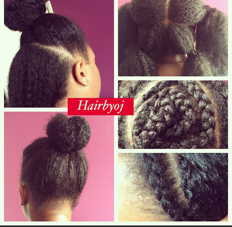 Crochet Braids With Leave Out Shoulder length 4 way part knotless ...