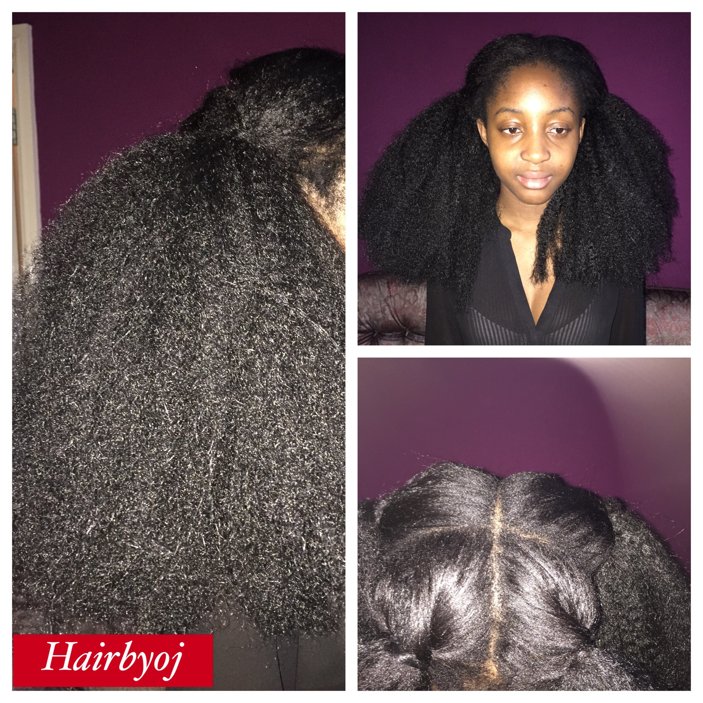 Chest length knotless vixen crochet braids with Marley hair and