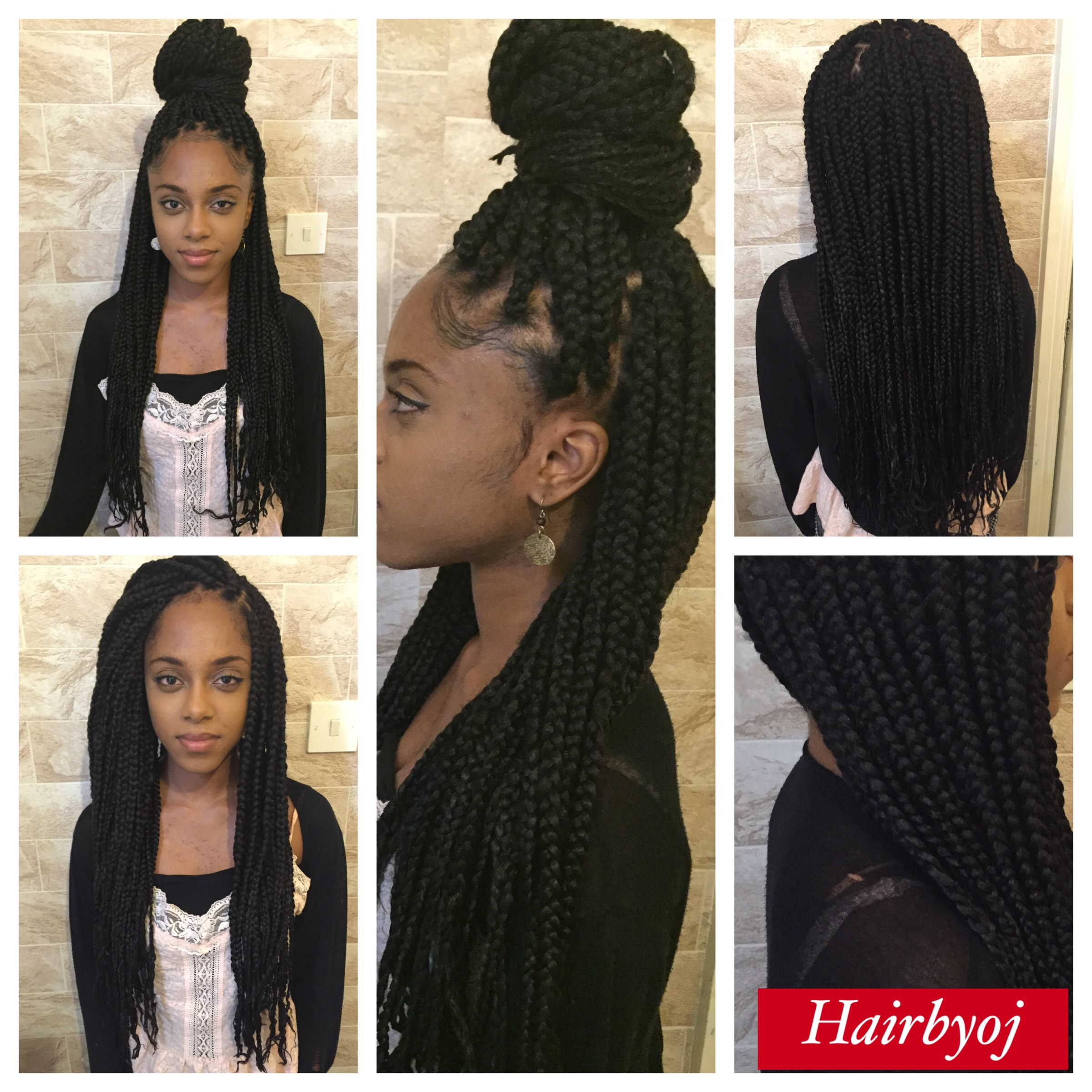 Waist Length Medium Big Sized Box Braids 171 Hairbyoj