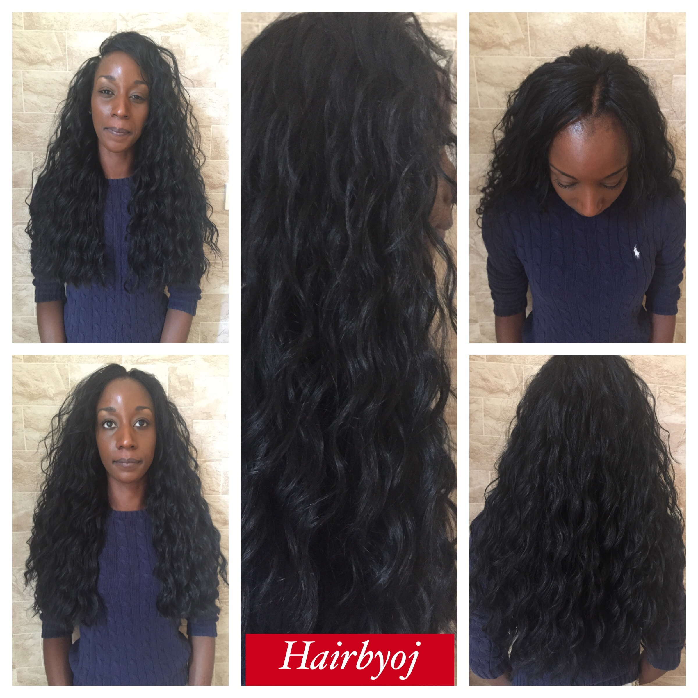 Chest Length Loose Wave Crochet Braids With Layers And Knotless Side
