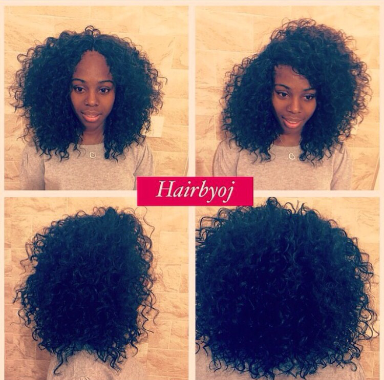 Crochet Hair Versatile : Shoulder length curly crochet braids with versatile side and middle ...