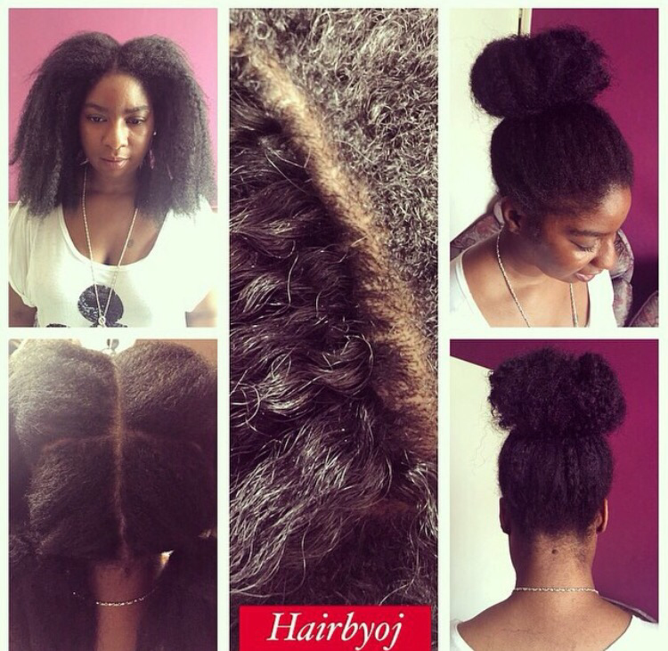 Crochet Braids With Leave Out : This client wanted a more natural look, to achieve this I cut the hair ...