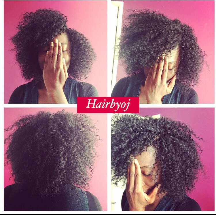 ... tightly curled crochet braids with invisible side parting ? hairbyoj