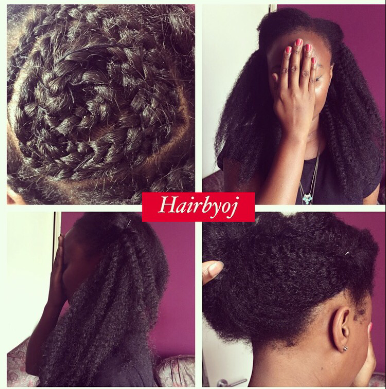 Crochet Braids Vixen Method : shoulder length 4 way part vixen crochet braids with invisible knots ...
