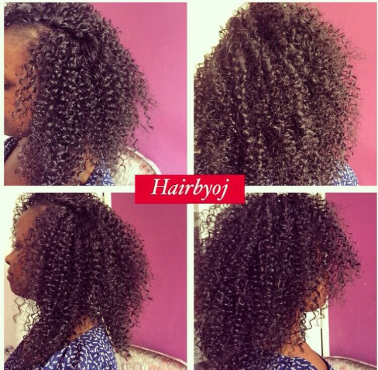 ... tightly curled crochet braids with knotless side parting ? hairbyoj