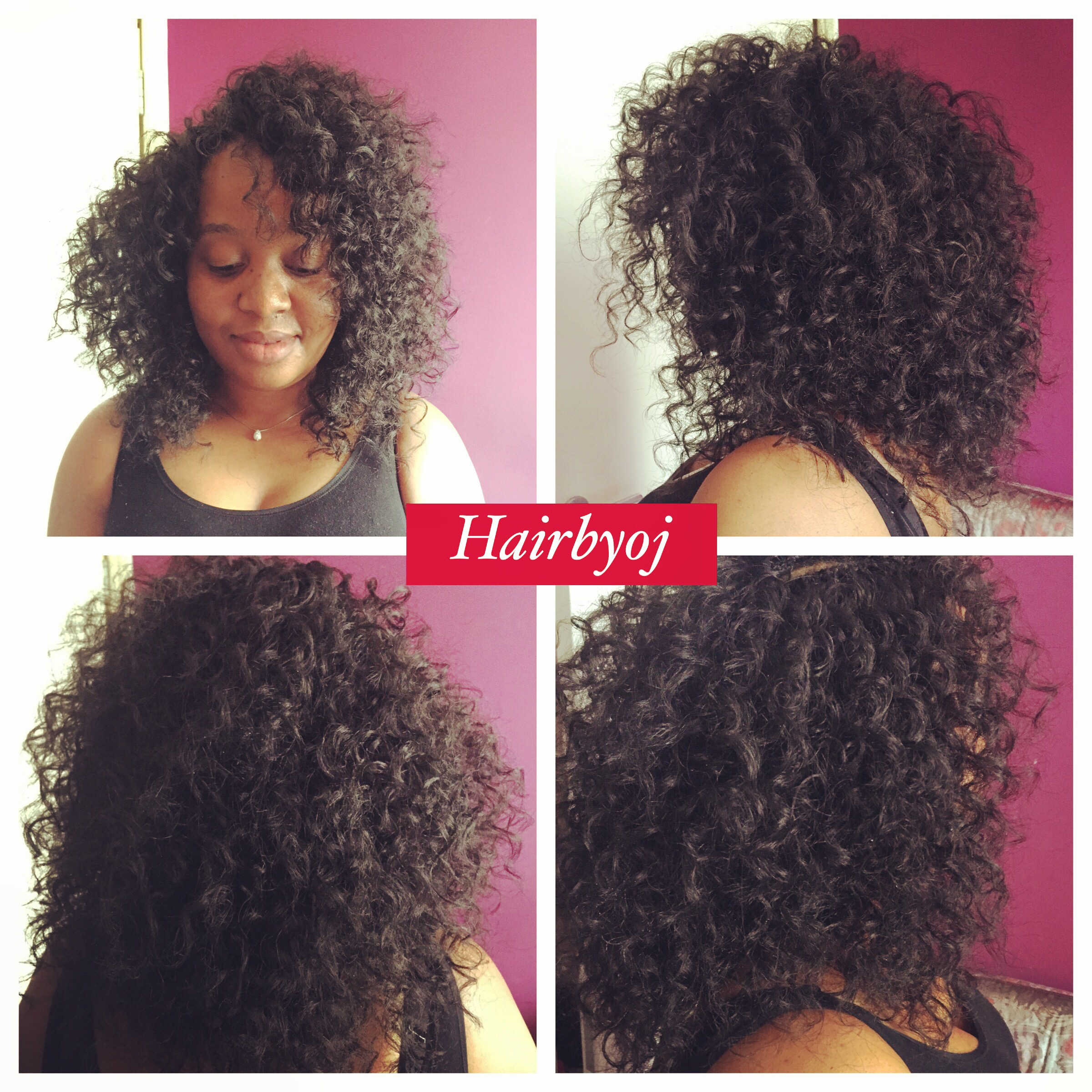 Shoulder Length Curly Crochet Braids With Layers Hairbyoj
