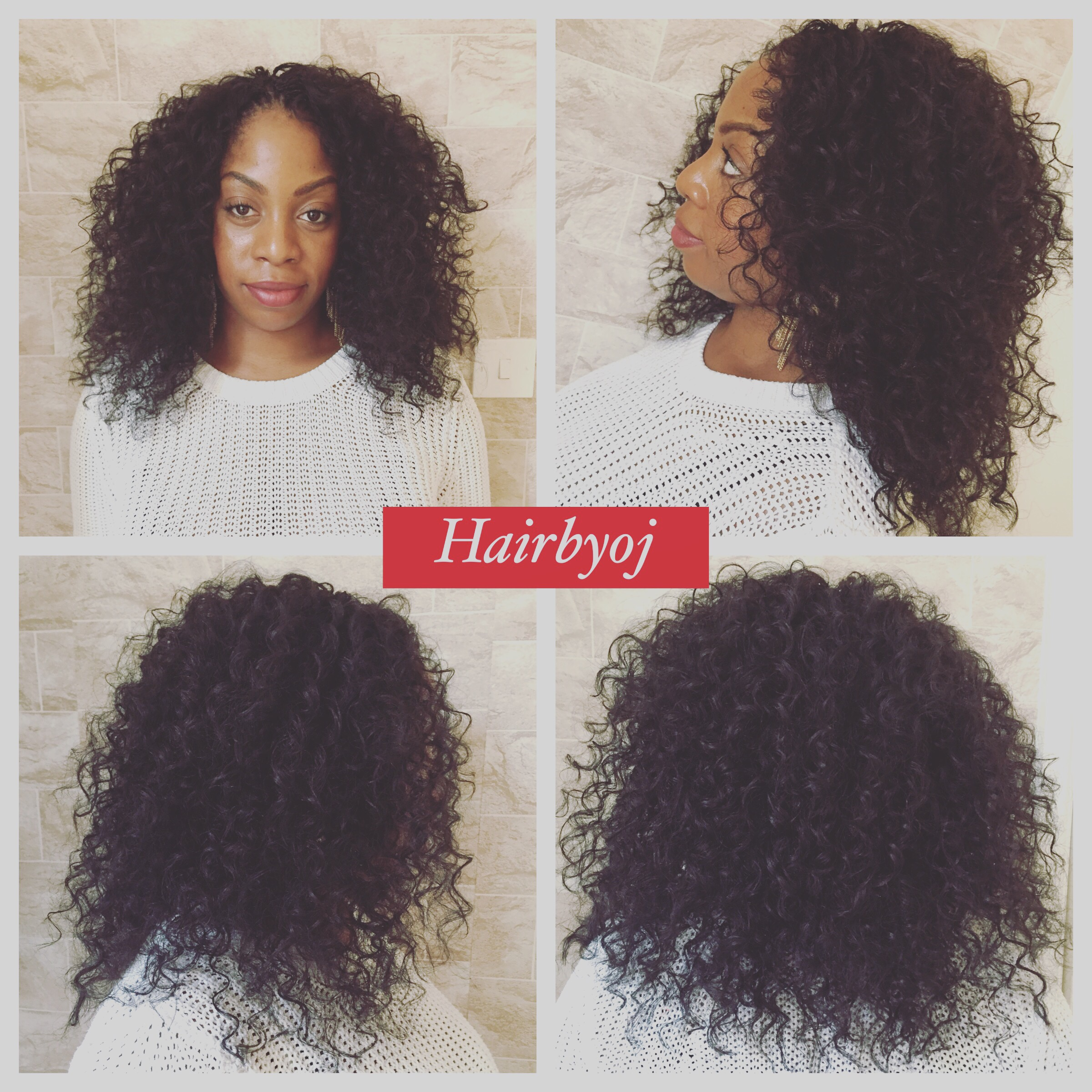 ... length curly crochet braids with no parting or leave out ? hairbyoj