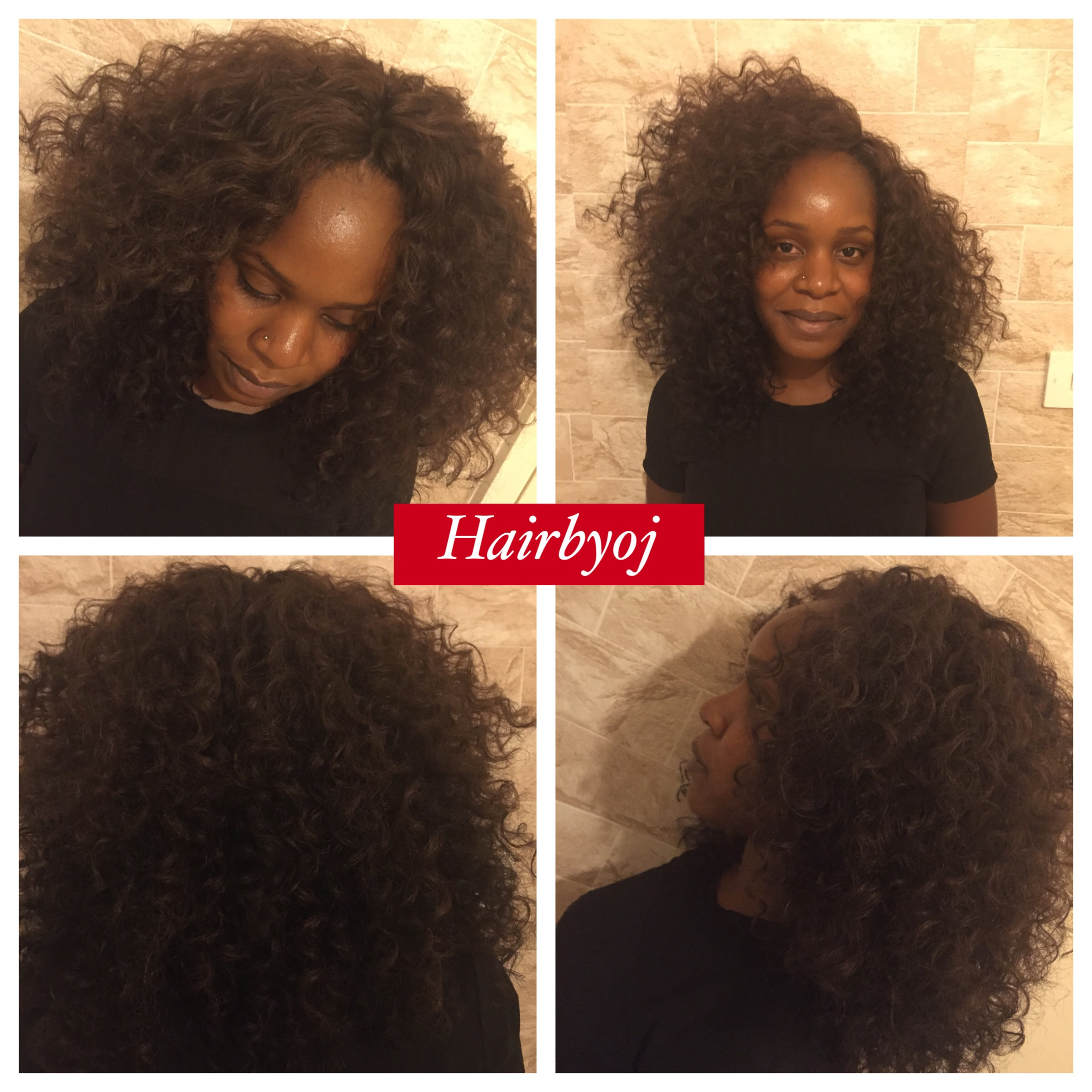 Crochet Hair Versatile : Shoulder length curly crochet braids with versatile middle and side ...