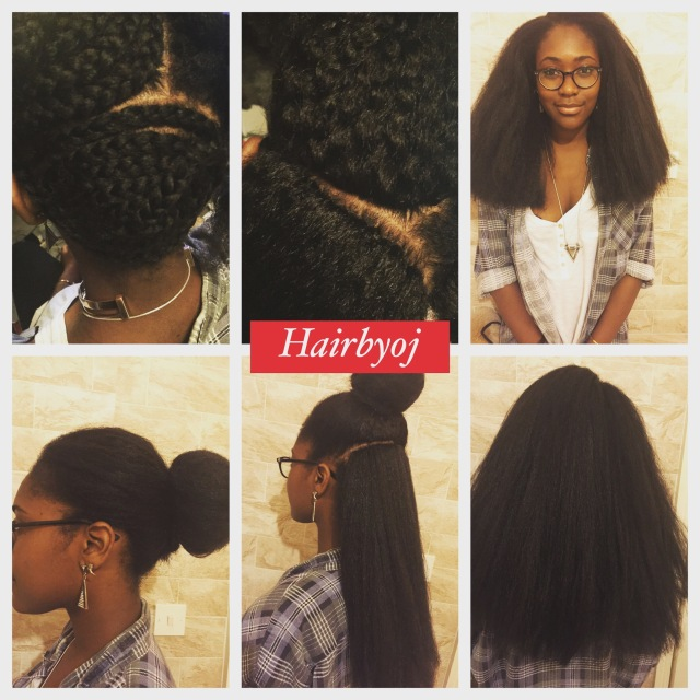 Crochet Hair Side Part : ... length 3 way part blowdried vixen crochet braids With side parting