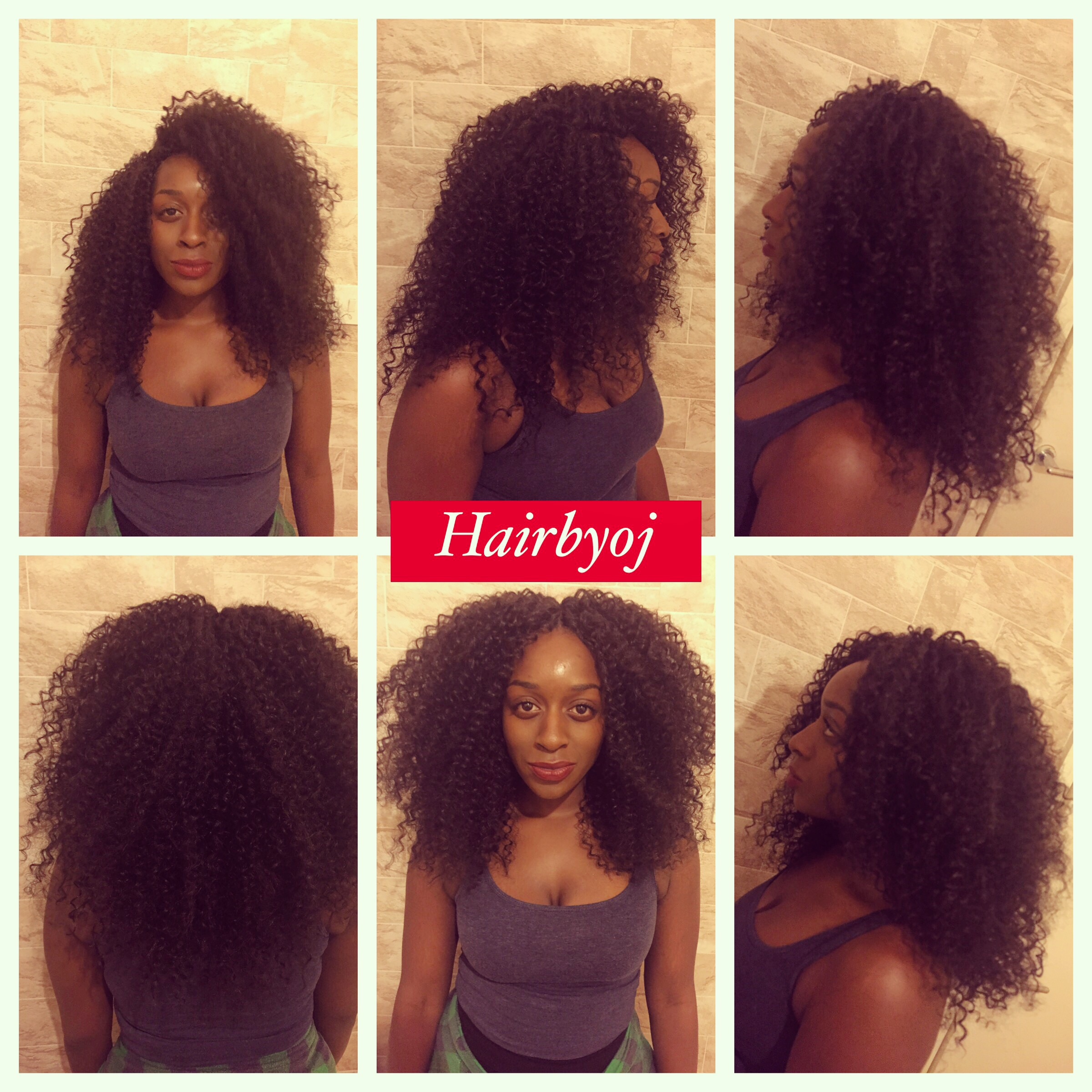 Crochet Hair Versatile : ... curled crochet braids with versatile middle and side knotless parting