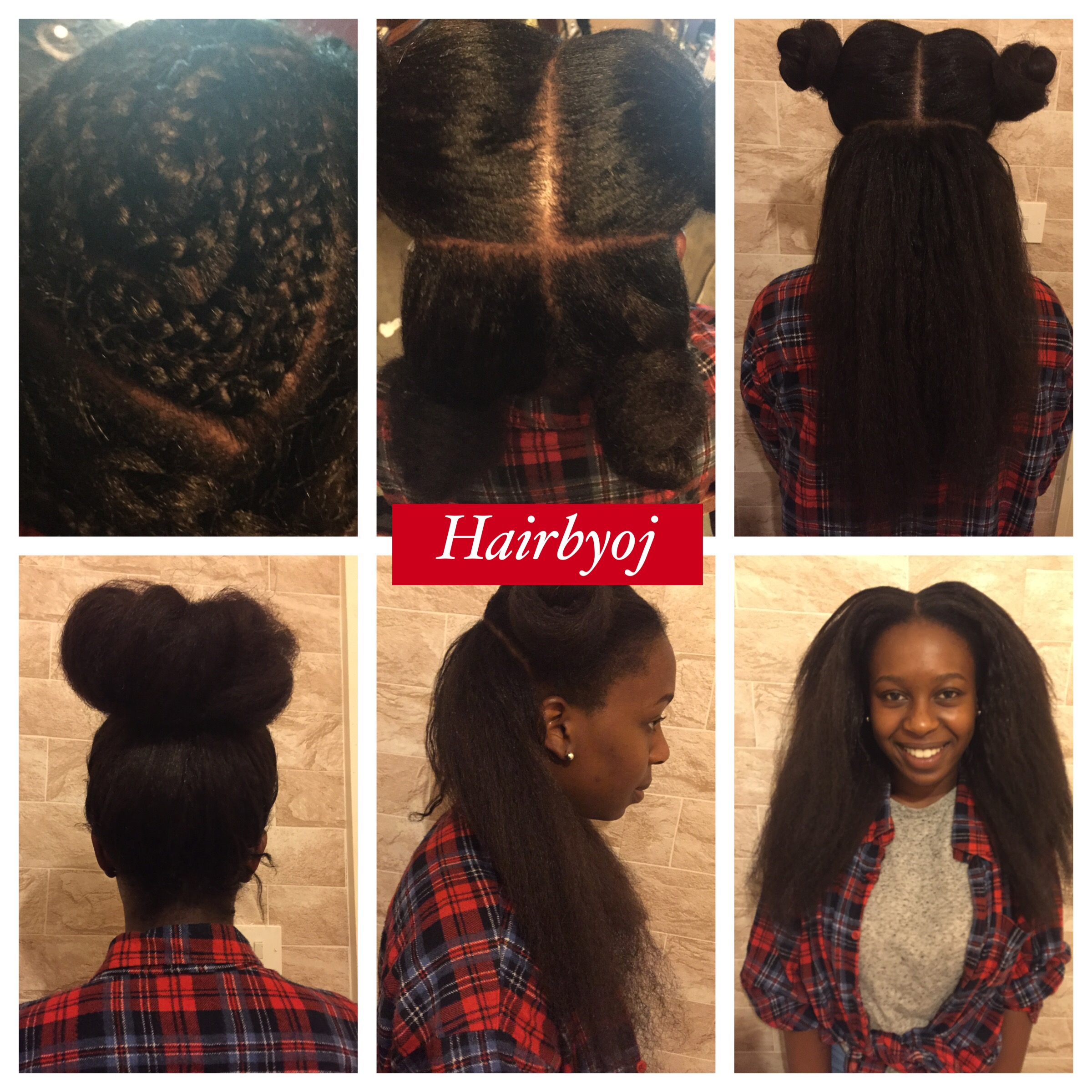 These blowdried vixen crochet braids blend perfectly with relaxed hair ...