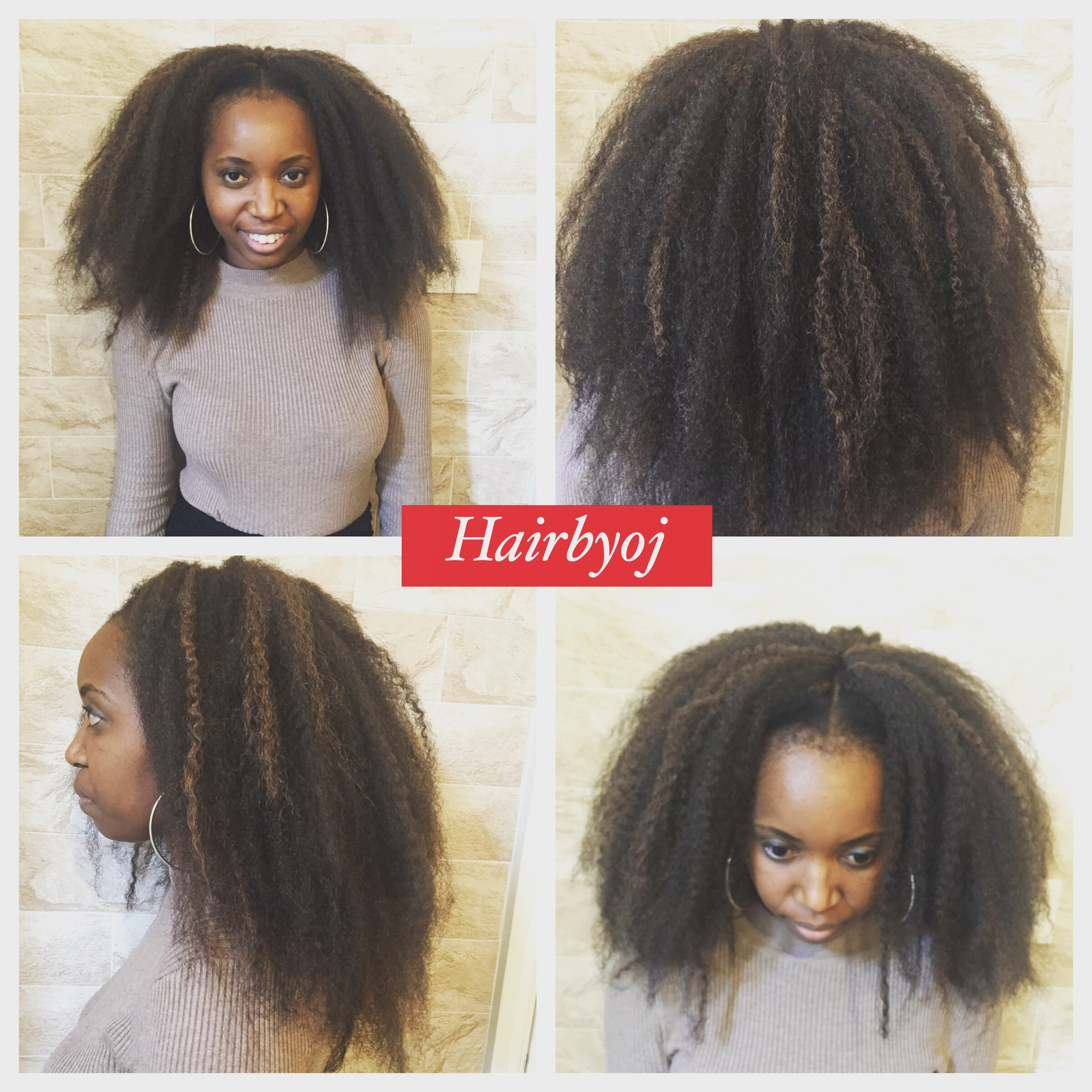 Crochet Hair Lengths : Chest length crochet braids with Marley hair, knotless Middle parting ...