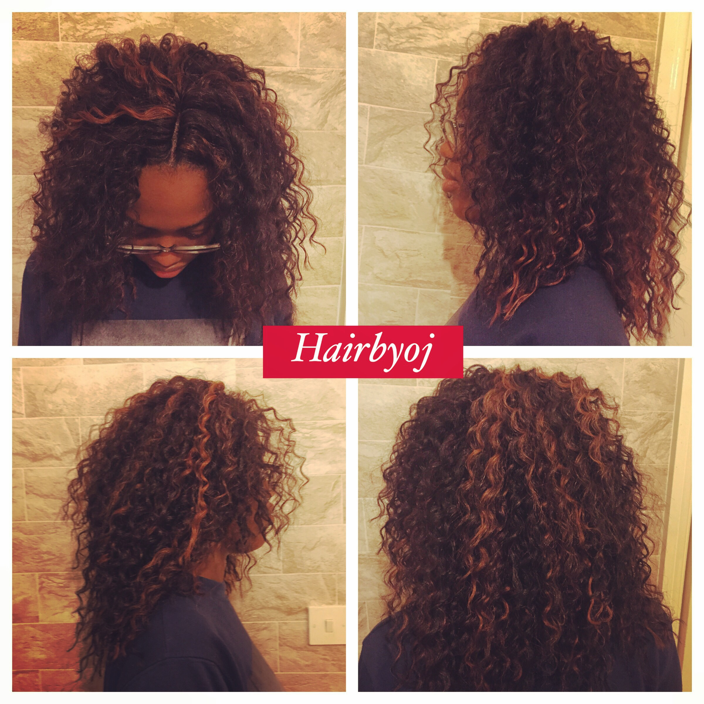 Crochet Braids Lengths : Shoulder length deep twist curl crochet braids with knotless Middle ...