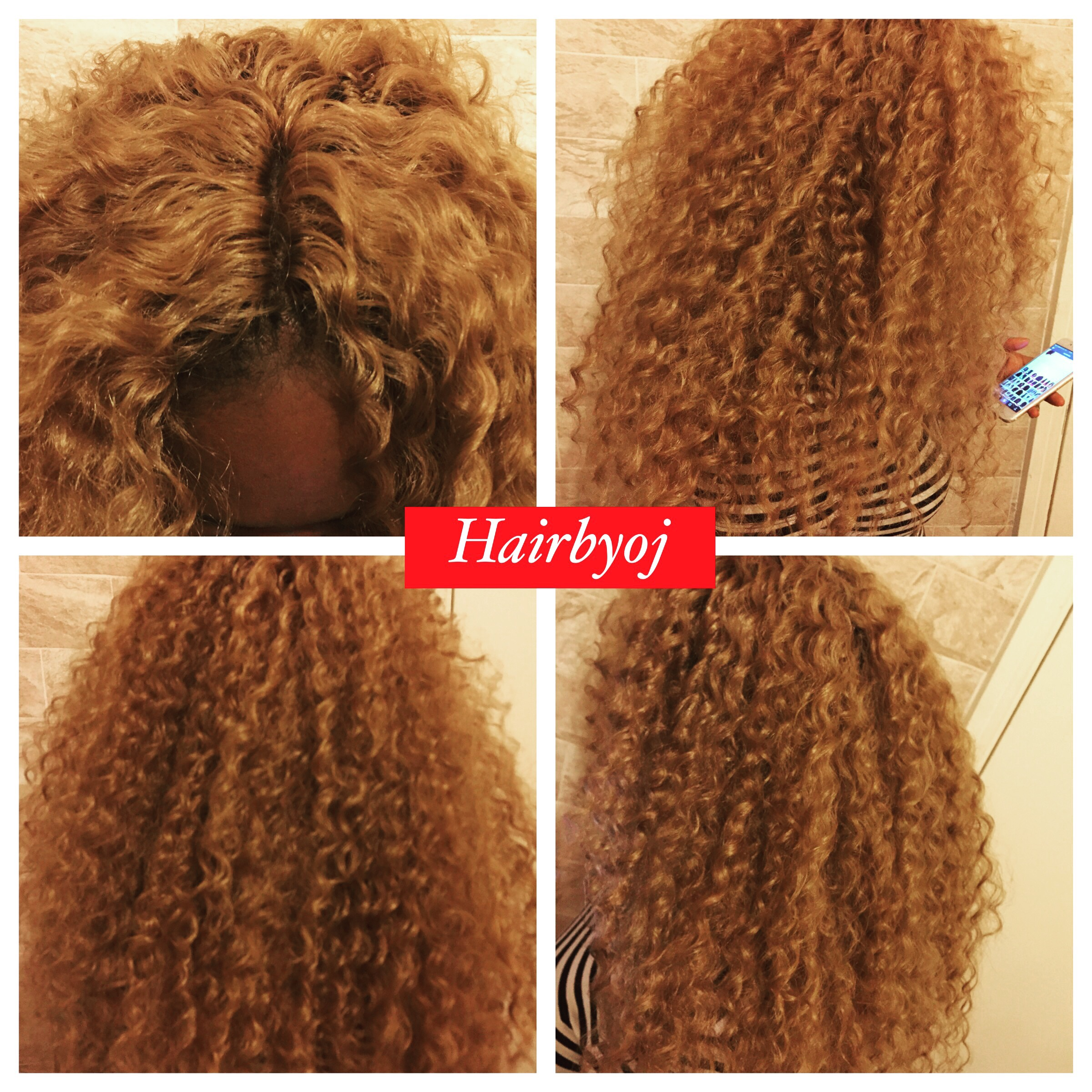 Chest Length Deep Twist Blonde Crochet Braids With Knotless Middle
