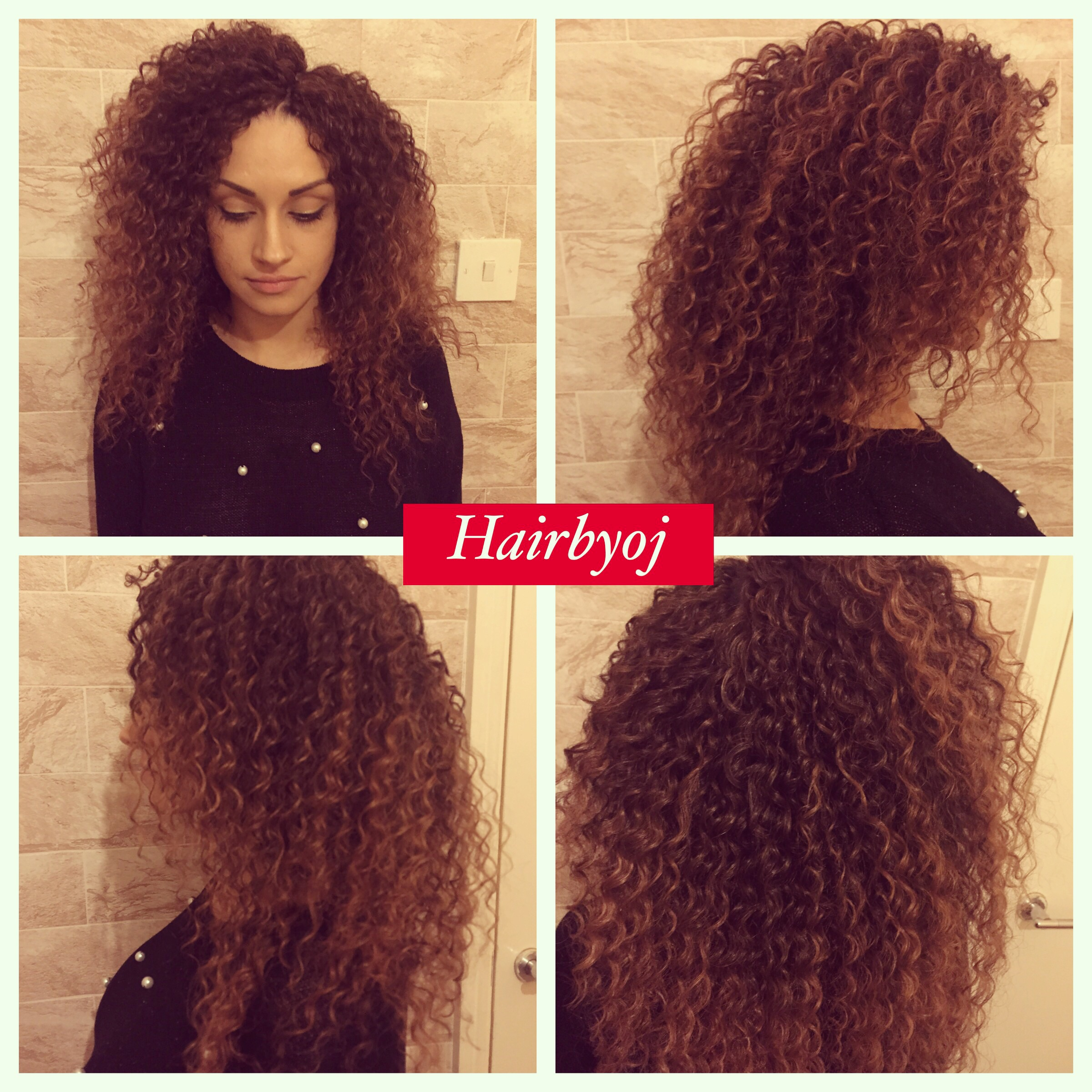 ... length wavy ombrE knotless crochet braids. No leave out ? hairbyoj