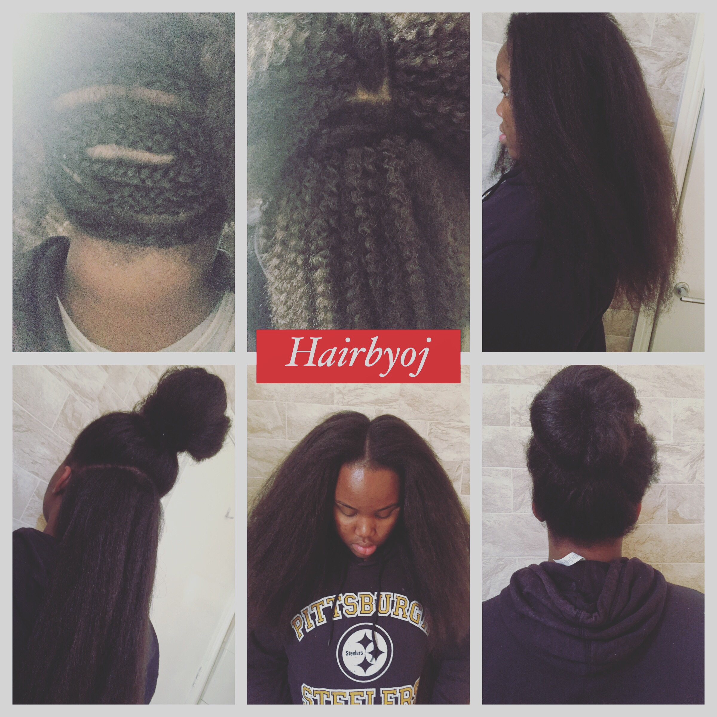Chest length 3 way vixen crochet braids with blowdried marley hair the first two images show the braiding pattern and texture of the marley hair before it is blowdried this client wanted her hair to still have a kinky ccuart Choice Image