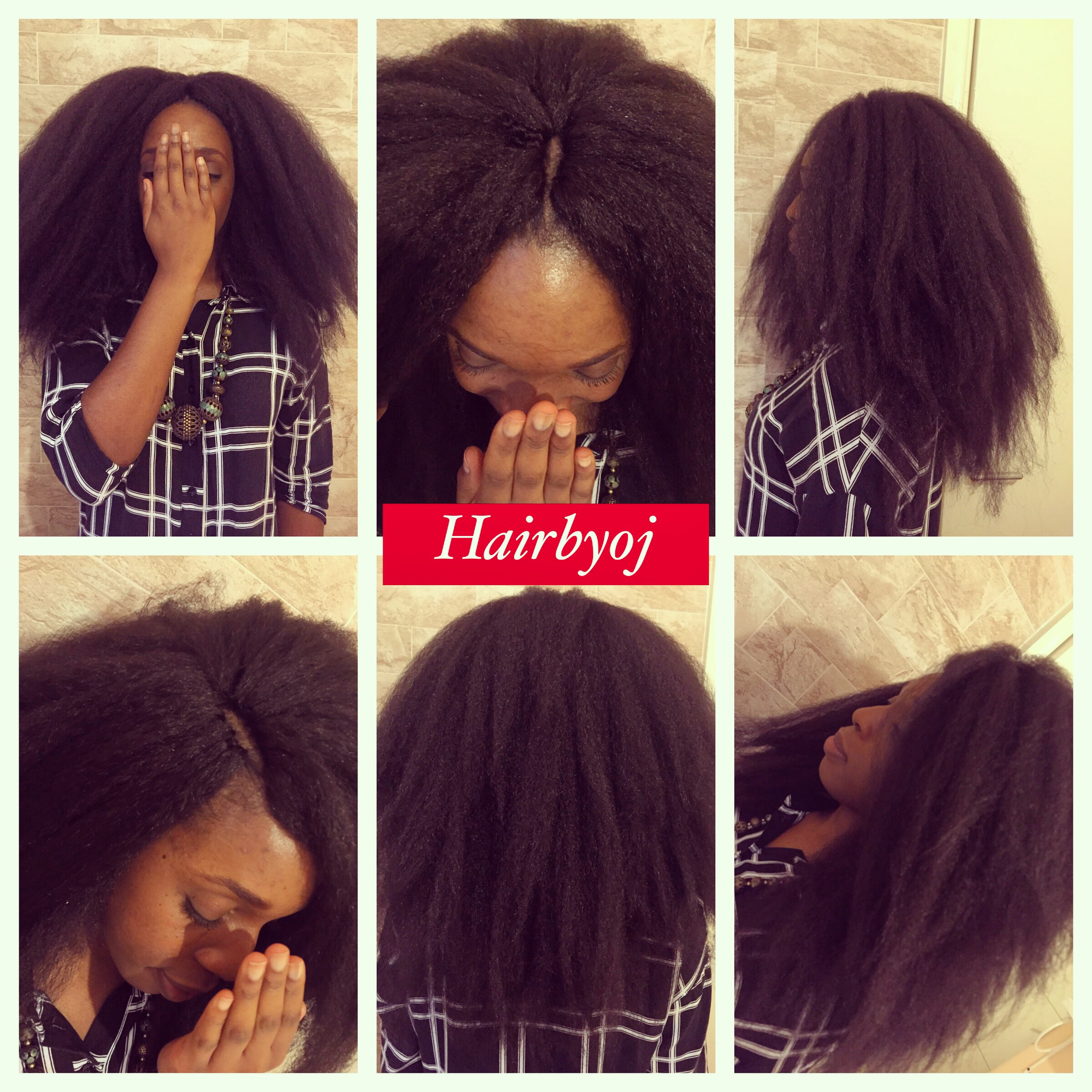 Shoulder Length Crochet Braids With Straight Kanekelon Hair And Versatile Middle And Side Partings Hairbyoj