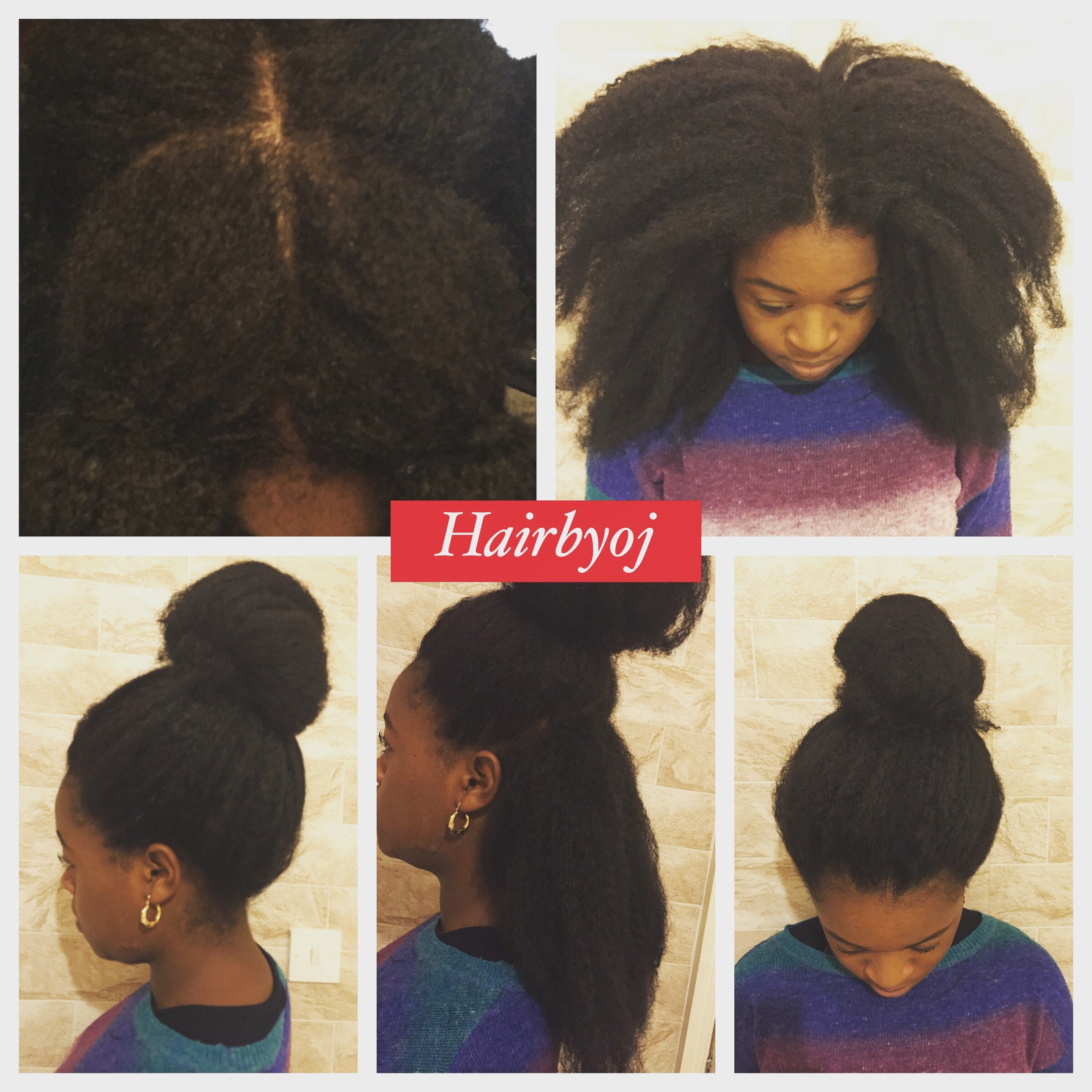 Crochet Afro : Shoulder length afro look 4 way part vixen crochet braids with Marley ...