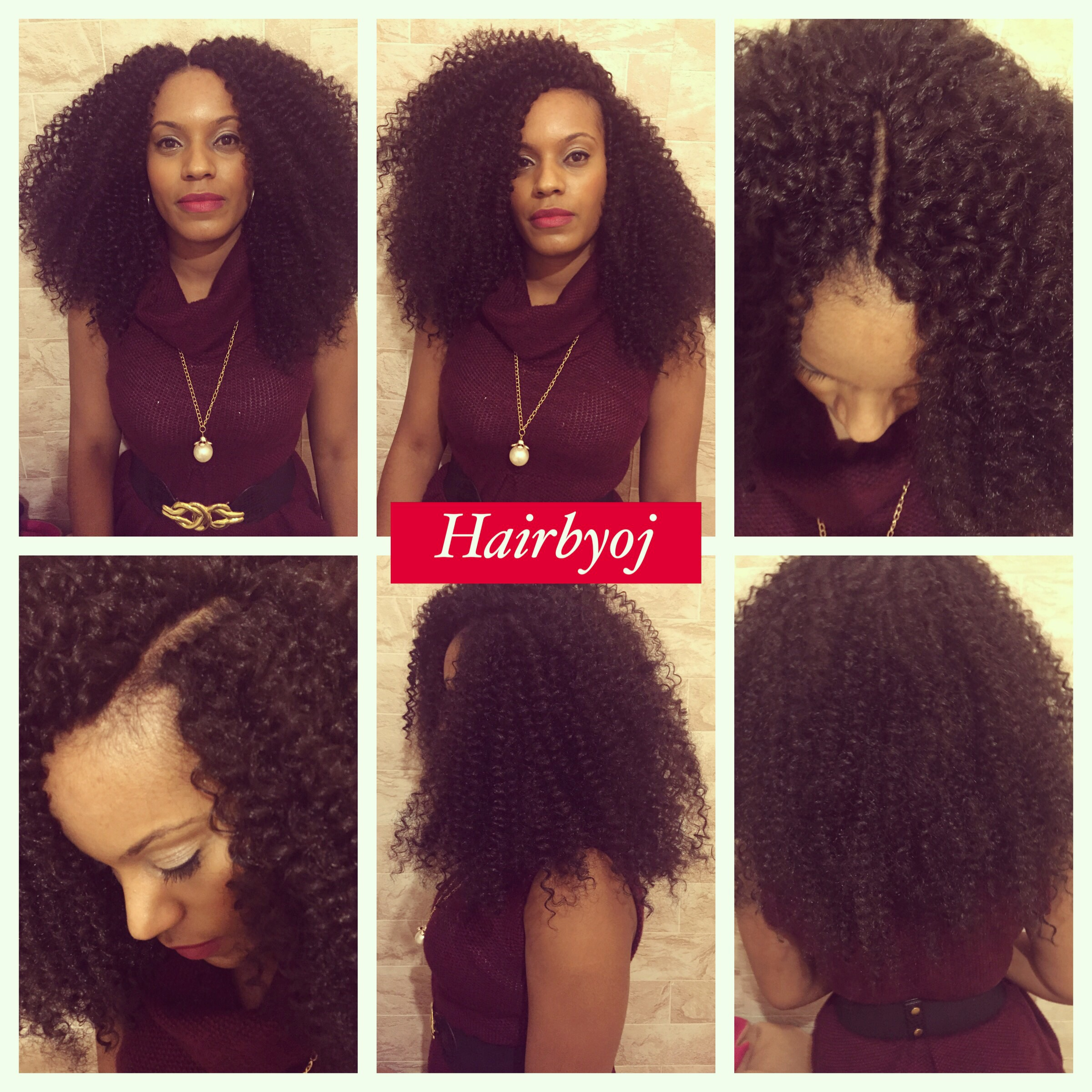 Chest length tightly curled crochet braids with layers and versatile ...