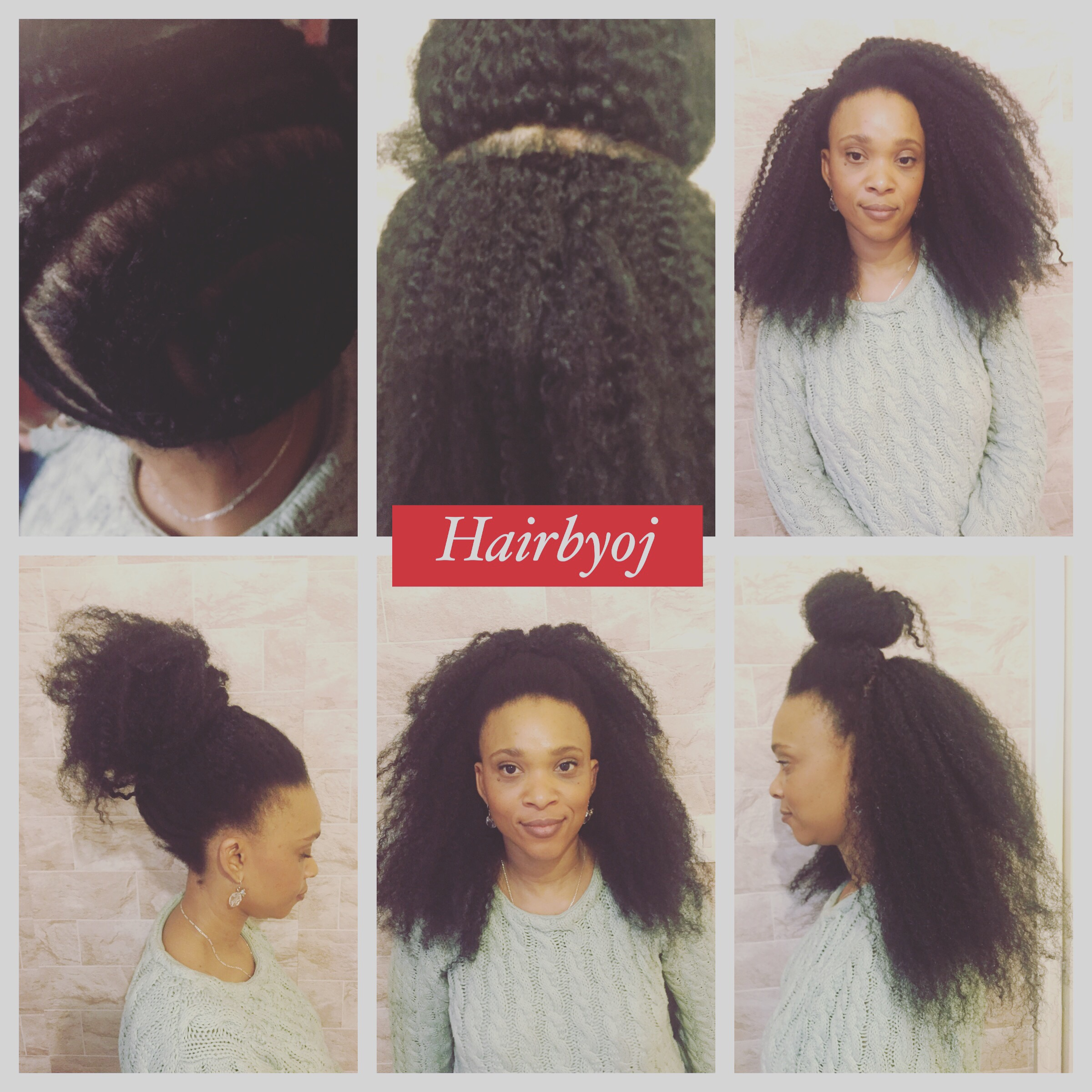 way vixen crochet braids with Marley hair and perimeter leave out, no ...