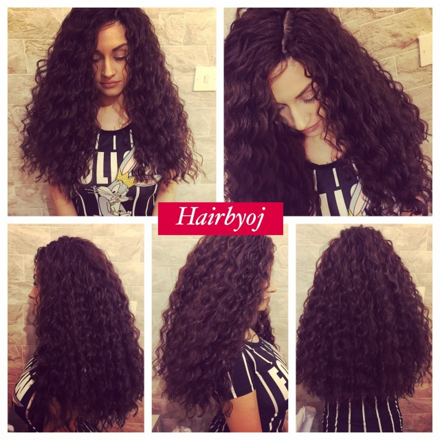 These loose deep twist curls were installed at the full length. The ...