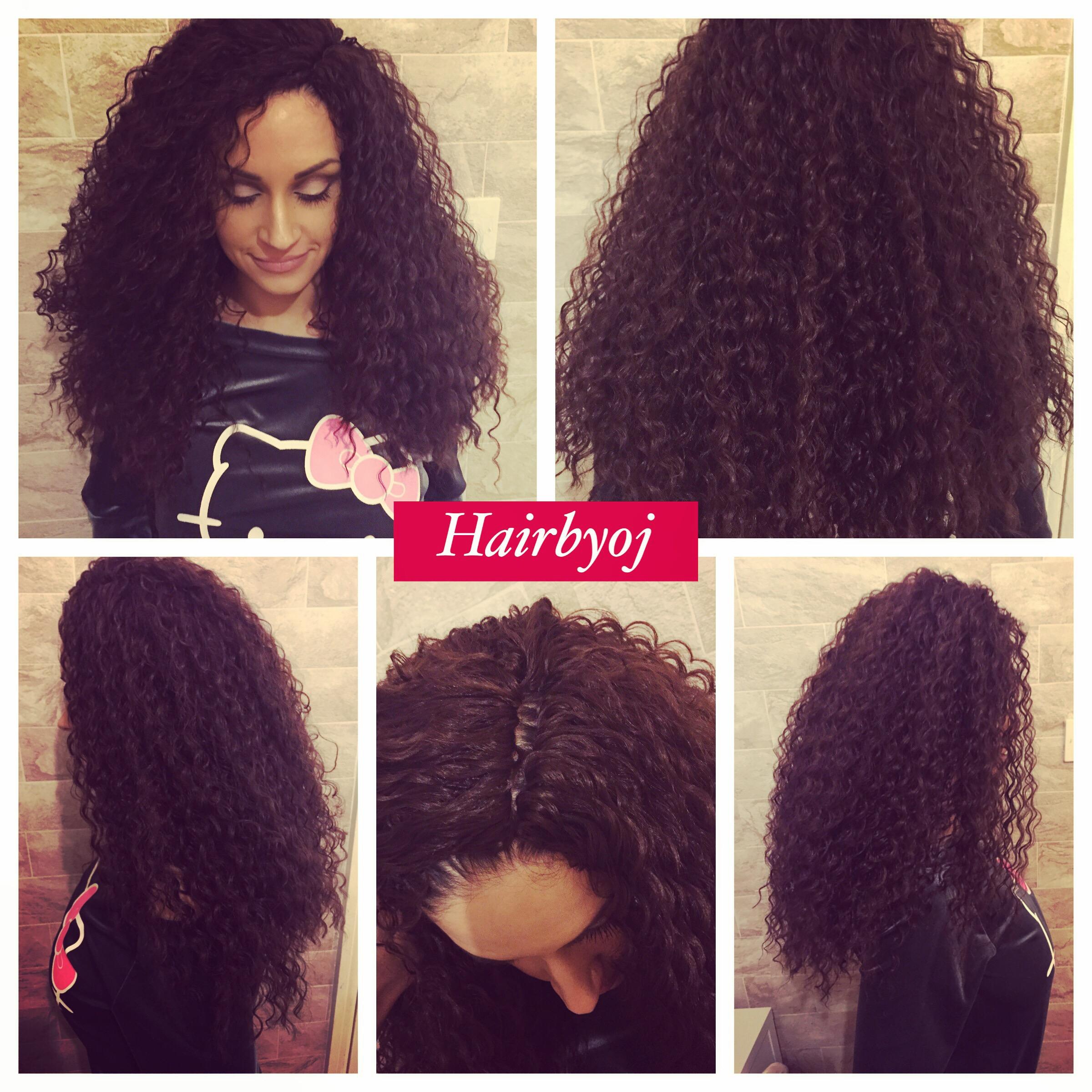 Shoulder length loose curl knotless crochet braids hairbyoj
