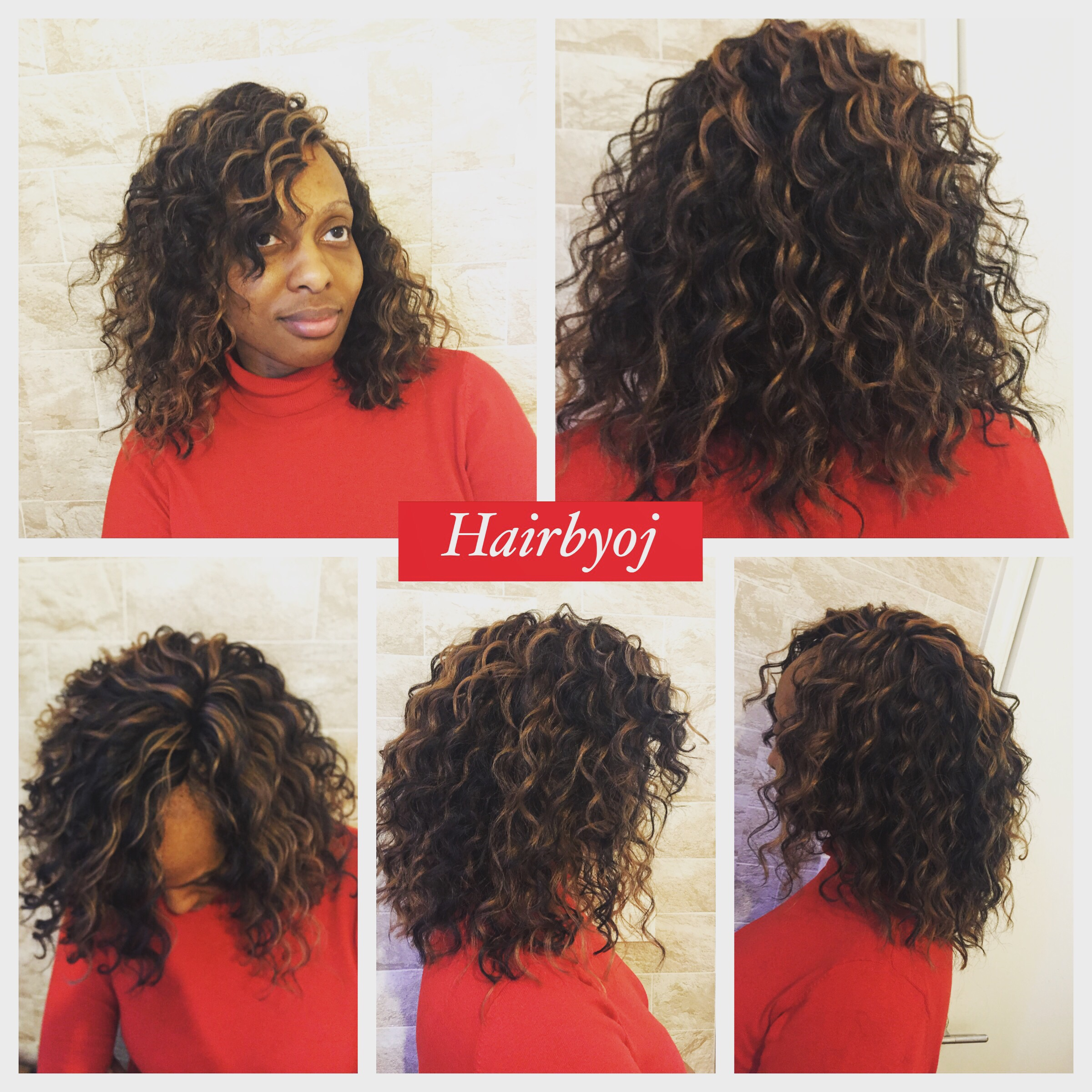 Bob Length Deep Twist Crochet Braids With Blonde Highlights Hairbyoj