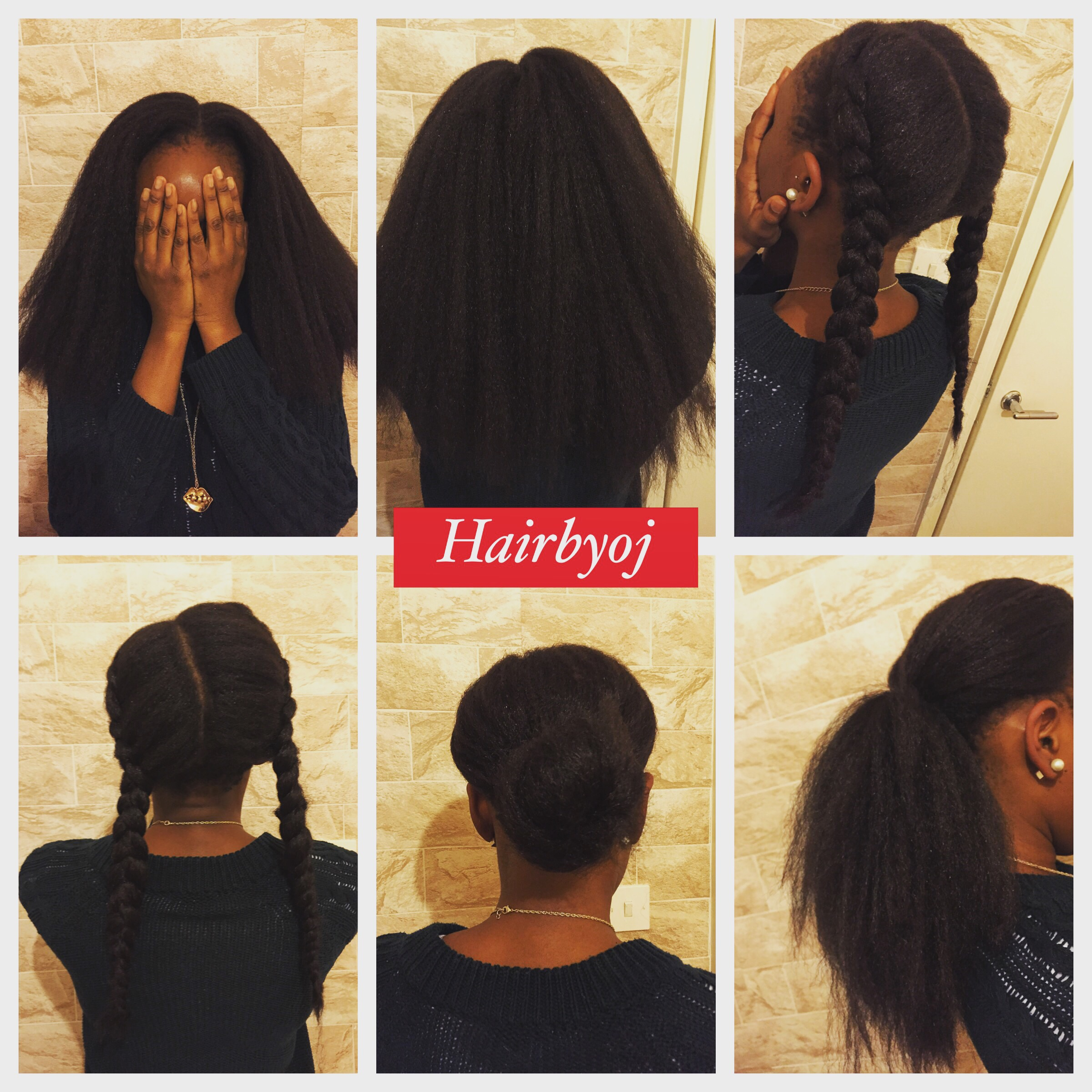 Shoulder Length 2 Way Vertical Part Crochet Braids With Straight Kanekelon Hair And Minimal Leave Out Hairbyoj
