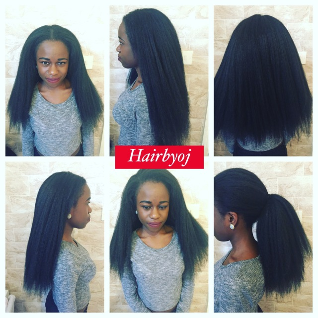 how to keep your natural hair leave out straight