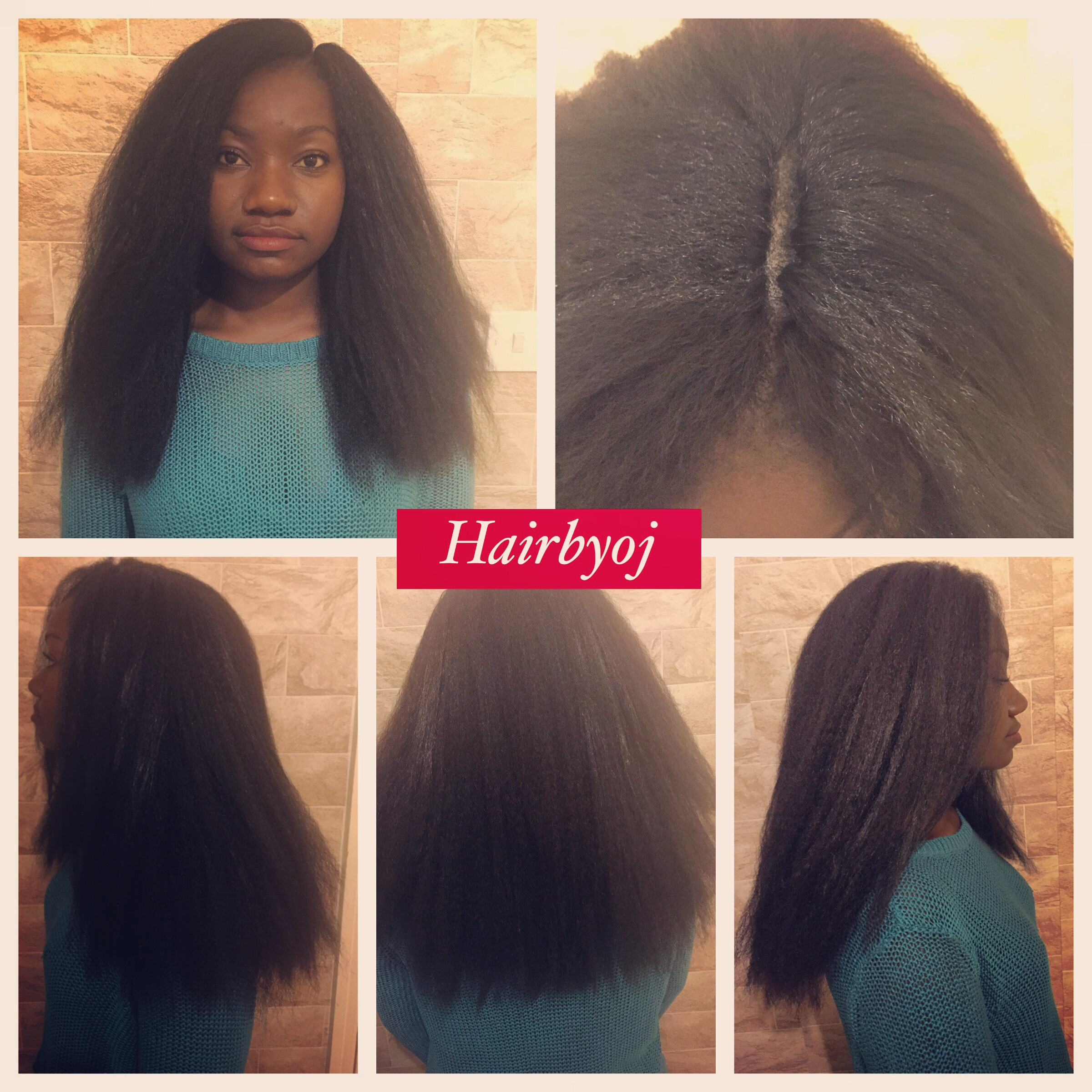 Chest Length Crochet Braids With Straight Kanekelon Hair And