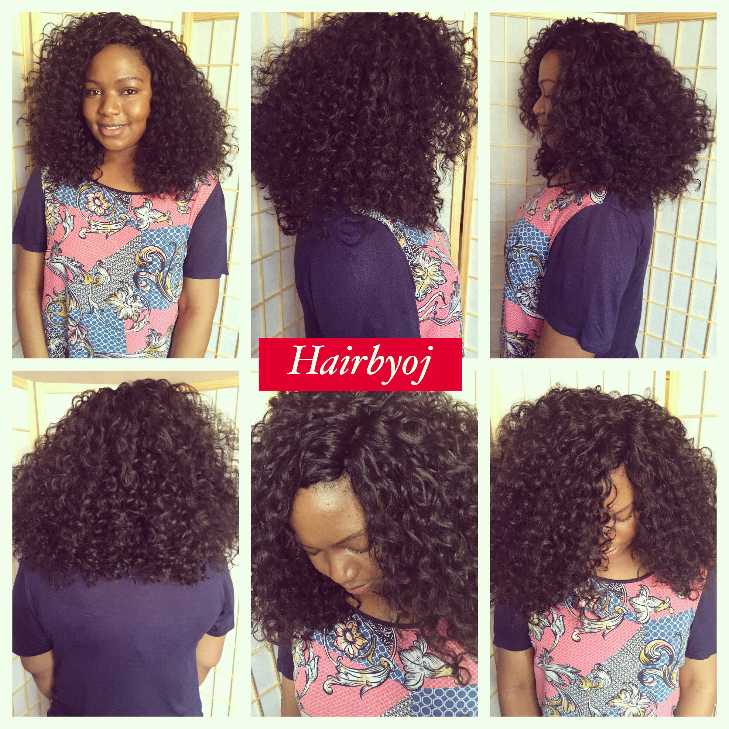 Curly Crochet Braids With Knotless Side Parting No Leave