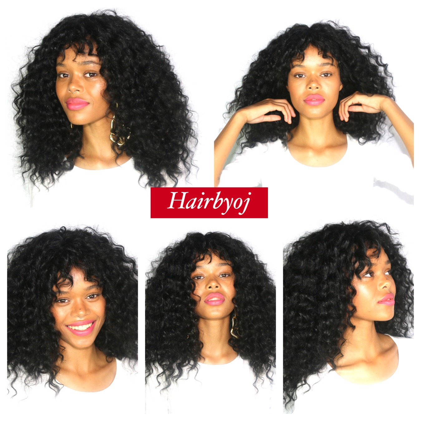 Shoulder Length Loose Curl Crochet Braids With Knotless